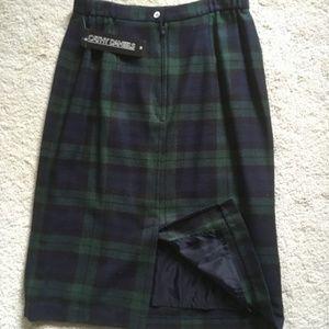Cathy Daniels Navy/Green Plaids Skirt